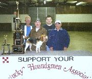 Mollie won the ky Houndmans